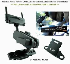 1 Set Nice Car Mount For The Rear Mirror COBRA Radar Detector New & Old Models