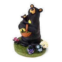 Big Sky Carvers Bearfoots Bear Flower Child Bear Figurine