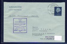 51608) LH FF Hamburg - DD - Zürich 6.7.66, GA Aerogramm ab Niederlande