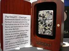 Zippo® Mother of Pearl Perlmutt  Dragon Drache ovp in Holzbox Neu / New  131