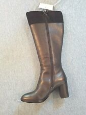 Naturalizer Black Frances Knee High Wide Calf Block Heel Boot Sz 7.5 M