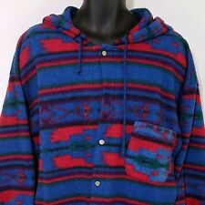Alternative Diner Fleece Jacket Southwestern Aztec Tribal Hooded Hoodie Mens XL