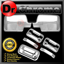 04-08 Ford F150 Chrome Mirror+2 Door Handle+no keypad+w/ keyhole+Tailgate Cover
