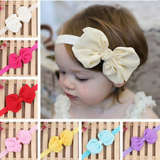 10PCS Cute Kids Girl Baby Toddler Infant Bowknot Headband Hair Bow Band Headwear