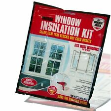 WINDOW INSULATION KIT SHRINK FIT DOUBLE GLAZED FILM FROST COLD DRAUGHT EXCLUDER