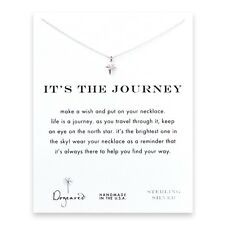 "Dogeared It's The Journey North Star Sterling Silver Reminder 16""Necklace"