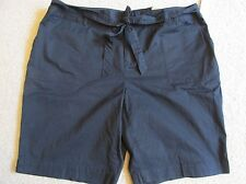 New with Tags Women's St. John's Bay Black Khaki Shorts with Belt Plus Size 22W