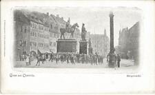 Chemnitz, Hauptmarkt mit Denkmälern, alte Ansichtskarte um 1900