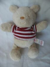 ADAMS TEDDY BEAR SOFT TOY CREAM WHITE RED STRIPED JUMPER LITTLE BUNDLE COMFORTER