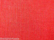 BULK BUY 10 Metre Red Orange Linen look Curtain Upholstery Fabric Material SALE!