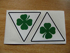 Alfa Romeo Cloverleaf decals - 100mm sticker pair - modern / classic