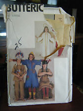 Butterick 4073 Kid's Scarecrow, Angel, Devil, Indian Costume Pattern - Size L