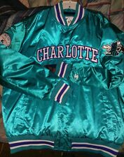 STARTER Charlotte Hornets Men's Lost City Satin Jacket 3XL NWT NBA ALL STAR