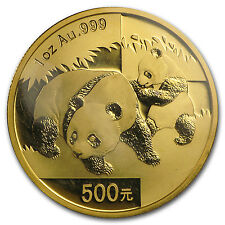 2008 China 1 oz Gold Panda BU (Sealed) - SKU #31511