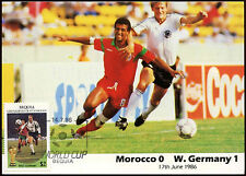 Football Maxicard 1986, Morocco V W. Germany, Handstamped #C26420