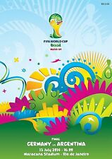 FIFA WORLD CUP BRAZIL 2014 FINAL GERMANY ARGENTINA PROGRAM PROGRAMME MESSI @ RIO