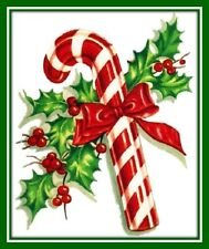 30 Custom Candy Cane Art Personalized Address Labels