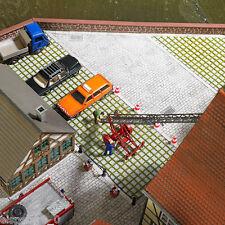 Busch 7432 decoración 3 D placa » compuesta de césped«, H0 Edificios Kit 1:87