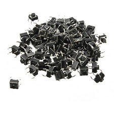 100Pcs 4 Pin Mini Micro Momentary Tactile Tact Switch Push Button DIP P4 6*6*5mm