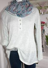 Your&Self  Shirt + Untershirt Langarm 2-teilig Mint Melange size:36-40 Neu