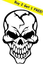 SKULL CRACKED HUMAN HEAD VINYL DECAL STICKER CAR WINDOW WALL CAR BUMPER LAPTOP
