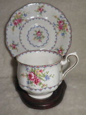 "Royal Albert ""Petit Point"" Pattern English Bone China Cup and Saucer"