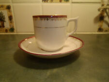 Vintage German - Hand Painted Porcelain Tea/Coffee/Espresso Cup -&- Saucer