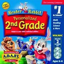 Reader Rabbit Personalized 2nd Grade  Math Science Grammar & More  Brand New 2CD