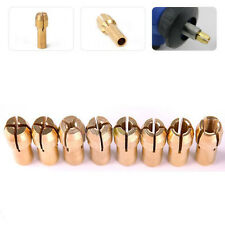 10Pc Drill Chucks Collet Bits 4.8mm 0.5-3.2mm Shank For Dremel Rotary Tool NEW