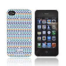 ILuv Festival estuche rígido para iPhone 4/4S serie ICC763BLU nuevo en el paquete