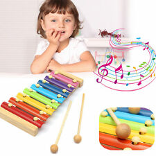 8 Notes Musical Xylophone Piano Wooden Instrument Educational Baby Child Toy NG