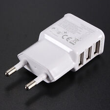 Hi-Q 3 Ports EU Plug USB Wall Travel AC Charger Adapter For iPhone Galaxy S5