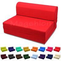 """Red Twin Size Wide Sleeper Chair Folding Foam Bed 70""""x36""""x5"""" 1.2LBs White Foam"""
