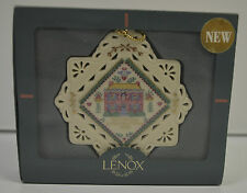 Lenox First Christmas in Our New Home Porcelain Christmas Ornament 1998