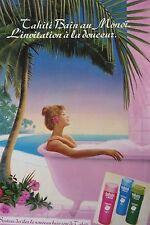 publicité  de presse BAIN DOUCHE  TAHITI  en 1972   ref. 37754