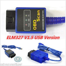 Mini ELM327 V1.5 ODB2 OBDII USB Cable Car Scanner Tool Diagnostic Scanner Scan