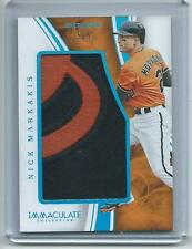 2016 Immaculate BB #ISD-NM Nick Markakis Orioles STANDARD LOGO RELIC #5/5!!!