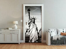 ohpopsi New York Statue Of Liberty Black And White Accent Wall/Door Mural