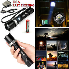 6000LM Tactical Police Heavy Duty 3w Rechargeable Flashlight  + 18650 + cha