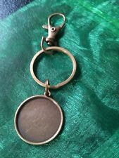 * PACK OF 5 BRONZE TONE SWIVEL CLASP KEY RING BLANKS WITH 25MM CABOCHON SETTING