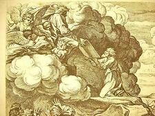 Moïse le Décalogue les tables de la loi Exode La Bible N Chaperon 1649 a Raphaël