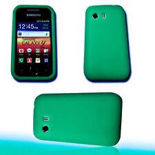 SILICONE TPU COVER per cellulare verde per Samsung s5360 GALAXY Y + Proteggi Schermo