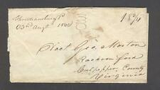 """Christiansburg Va. 22nd August 1832"" Montgomery Co to George Morton Racoon Ford"