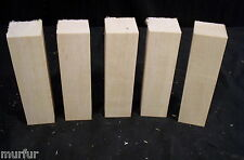 """5 Pc Northern Wisconsin Carving Basswood 1 1/2  x  1 1/2  x  5 1/2"""""""