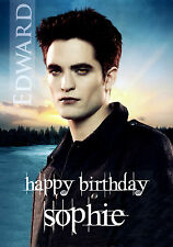 PERSONALISED ROBERT PATTINSON EDWARD CULLEN TWILIGHT BIRTHDAY CARD