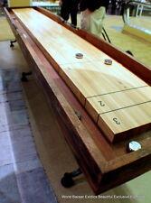"""145"""" long Industrial Shuffleboard table Hardwood reclaimed walnut and oak"""