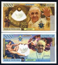 SET Vatican, 1000 - 5000 Lire, 2016 Private Issue Kamberra, UNC   Pope Francis