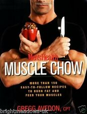 Mens Muscle Chow Bodybuilding Training Food Fitness Shredded Book Health Weight