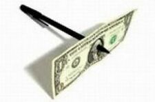 Magic Tricks PEN THRU DOLLAR  BILL (Through) Penetration Trick-NEW!!