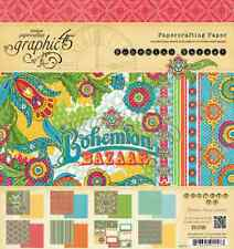 "GRAPHIC 45 BOHEMIAN BAZAAR pad 8""x 8"" - 24 double sided sheets"